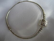 CHILDRENS PLAIN CHARM BRACELET SILVER PLATED LOVE 5 SIZES BRACELET ONLY *UK*