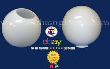 "12"" WHITE ACRYLIC PLASTIC GLOBE OUTDOOR LIGHTING POST POLE OPENING 5.25 NECKLESS"