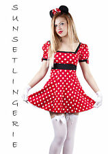 Miss mouse fancy dress costume mini dress party outfit sizes 8,10,12,14,16,18