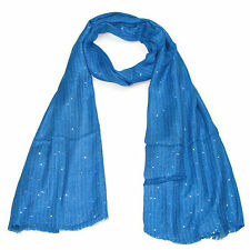 Womens Sequin Scarf Ladies Sparkling Striped Pattern Shiny Scarves for Girls New