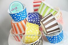 24 x Pleated Polka Dot Paper Cupcake/ Muffin Cases Baking Cups Various Colours