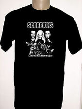 Men's T-shirt,Scorpions,NEW,100% Cotton,Blacks,Fruit of the Loom,Personalized