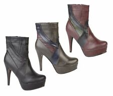 Ladies Black/Grey/Purple CoCo High Ankle Boot UK Sizes 3 - 8 SALE L8629