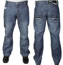 NEW MENS ENZO EZ90 CLASSIC FIT STRAIGHT LEG STONE WASH JEANS. **HALF PRICE**