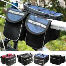 Cycling Bike Bicycle Multifunction Front Frame Tube Bag Handlebar Bag Pannier