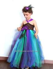 Peacock Baby Toddler Children wedding flower girl pageant Tutu petti dress 1-8Y