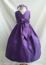 PURPLE LAPIS BIRTHDAY TODDLER WEDDING PARTY GOWN PAGEANT FLOWER GIRL DRESS