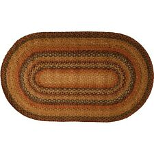Homespice Hudson Timber Trail Jute Braided Area Rug Country Home Decor