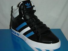 MENS ADIDAS TOP COURT TRAINERS BLACK/WHITE/BLUE 660