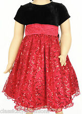 MSRP $50   12M  18M  24M   New Blueberi Boulevard Black & Red Sequined Dress