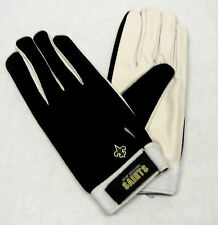 NFL New Orleans Saints Team Apparel Reebok Leather Palm Gloves NEW!