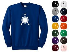 Philippine Sun And Stars Flag Cool Trendy Symbol Adult Crewneck Sweatshirt