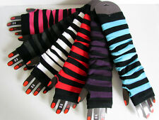 Striped Fingerless Arm Warmers | Gloves | 2012 - 2013 |  Texting Gloves | Punk