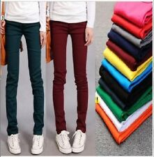 Fashion Lady Women Candy Pencil Stretch Pant Fit Skinny Jeans Jegging Trousers