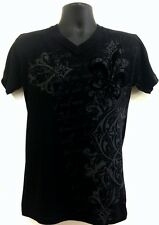 Men's MMA Fleur De Lis Flock Floral Graphic Black New T-shirt S, M, L, XL, XXL
