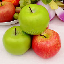 6x/10x Large Red Green Apples Decorative Plastic Artificial Fruit Imitation Fake