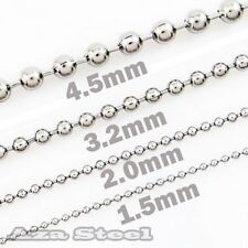 "18""-30"" Men's 1.5mm 2.0mm 3.2mm 4.5mm Stainless Steel Ball Chain Necklace SN#711"