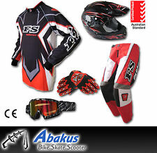 MX Jersey+Pants+Gloves+Helmet*AS1698*+Goggles-Dirt Bike Gear/Off-road/Motocross