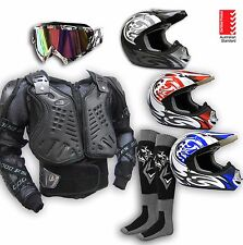 Body Armour+Helmet*AS1698*+Goggles-MX Motocross Protective Gear/Dirt Bike/Quad