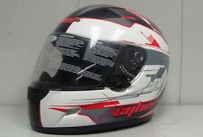 CYBER US-39 FULL FACE STREET HELMET PEARL WHITE AND RED *NEW*
