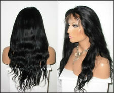 "hot 8""-24"" long natural wavy indian remy human hair lace front wig"