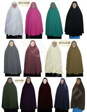 "knee Length Long Khimar 50"" Hijab Niqaab Abaya Veil Jilbab Islam + Under Scarf"