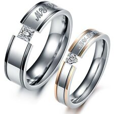 New arrival 1 PAIR Couple Stainless Steel Rings MY LOVE wedding Bands Gifts 351