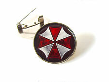 RESIDENT EVIL UMBRELLA CORPORATION LARGE BROOCH BADGE OR LAPEL PIN TIE PIN GIFT