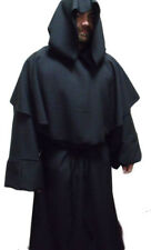 ❤ BN WOOL ROBE , VARIOUS COLOURS ,COWL/HOOD /MEDIEVAL/JEDI/STEAMPUNK/MONK  ❤