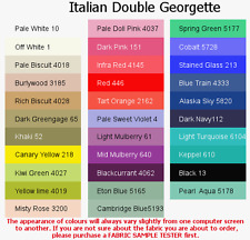 Double Georgette-ITALIAN MADE material in 21 colours, HIGH QUALITY