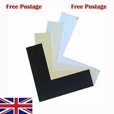 Mount Card, Mount Board, Mount Backing Card- White, Black Off White or Ivory