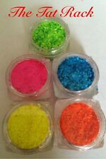 ~ Neons~1mm Hex~Use With Acrylic,UV Gels,Suspension Base ~Vibrant~ 3g-10g~