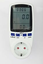plug in Power Watt Energy meter Voltage Volt Meter consumption Monitor Analyzer