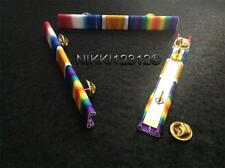 WW1 STAR BRITISH WAR MEDAL AND VICTORY MEDAL RIBBON BAR PIN ON OAK LEAF OPTION
