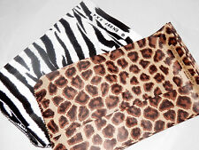 50 4x6 Zebra and Leopard Paper Party Favor Treat bags, Animal Print Gift Bags