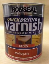 Ronseal Quickdrying  coloured varnish Gloss750ml for interior use 8 colours