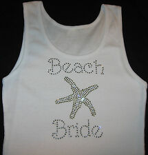 BEACH BRIDE starfish honeymoon rhinestone tank top