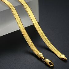 4/5/5.5MM MEN Chain Women Unisex Yellow Gold Filled GF Herringbone Link Necklace