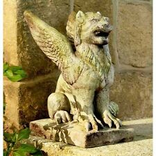 "15"" Big Mouth Griffin Statue - Gargoyle Fiberstone Yard Art,  Outdoor or Indoor"