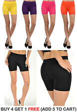 Fitness Mini Spandex Hot Shorts Tights Seamless Stretch Juniors Onesize