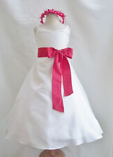 IVORY PAGEANT BRIDESMAID  PARTY FLOWER GIRL DRESS 18-24M 2T 2 3 4 5 6 8 10 12 14