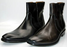 John Varvatos 'Richards' Side Zipper Calf Skin Leather Dress Boots Made in Italy