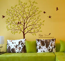 """70"""" Tall Large Tree Wall Decals Birds Decorative Vinyl Home Decor Stickers"""