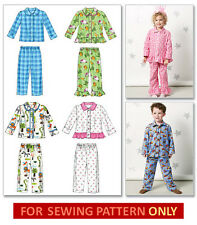 SEWING PATTERN! MAKE BOY~GIRL PAJAMA TOPS & PANTS! TODDLER 1 TO CHILD 6! PJS!