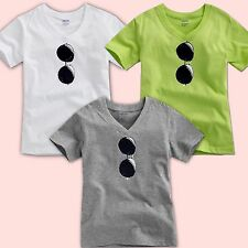 "NWT Vaenait Baby Toddler Kids Boy Unisex V-Neck Top T-Shirts "" Sunglasses """