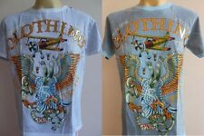 Emperor Eternity Retro Bombing Flyer Tattoo Men T shirt M L White Blue EE41