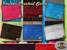 """Satin Italian Crushed Fabric / 115"""" Wide / Sold by the yard"""
