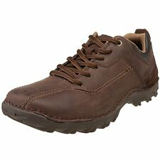 Men's Caterpillar Casual Lace Up Oxford Movement Chocolate Brown Leather P712430