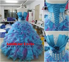 Formal Ruffles Beading Quinceanera Prom Dresses Formal Ball Gown Wedding Dresses