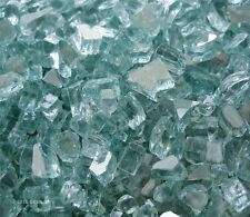"BLUEGREEN REFLECTIVE FIREGLASS~1/4"" Fireplace Glass FirePit Glass Crystals"